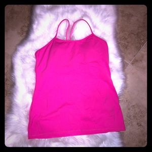 Lululemon Athletica bright pink tank size 12